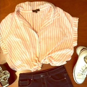 Vintage candy striped tee